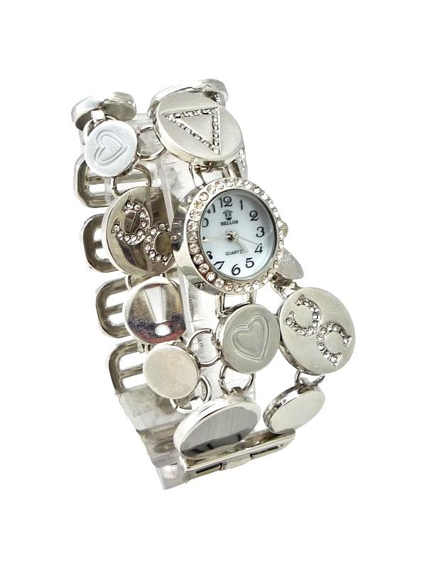 Dámské stříbrné hodinky BELLOS Silver subtle 112D