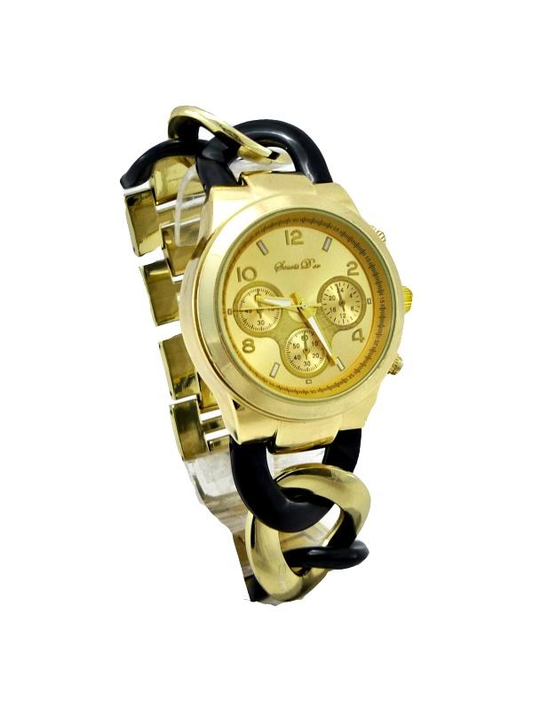 Dámské hodinky Durand Nice černo-zlaté 327D