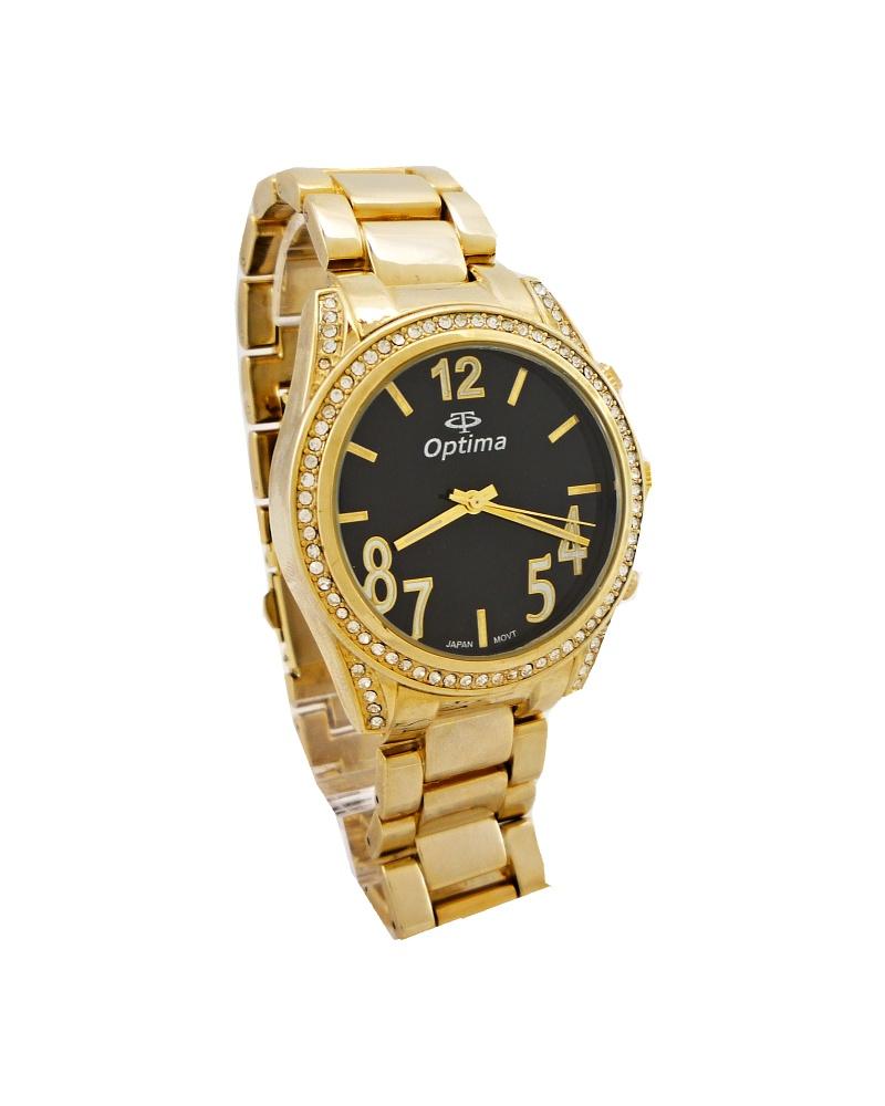 fe77ce2db37 Dámské hodinky Optima Nice zlaté 140D