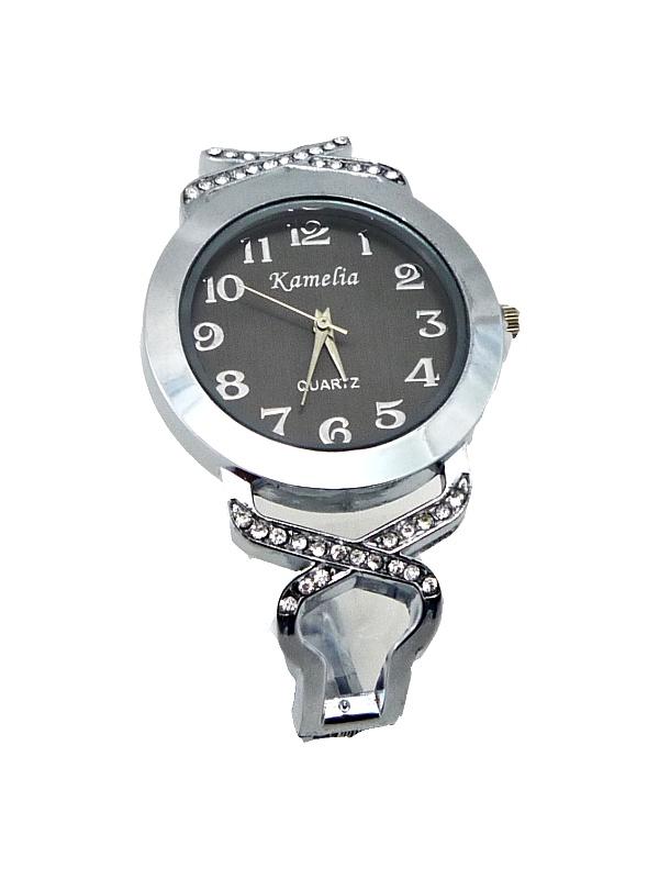 Dámské náramkové hodinky Kamelia Silver black extra 352D