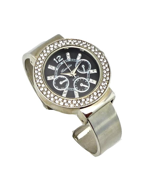 Dámské hodinky KAMELIA Silver black 355D