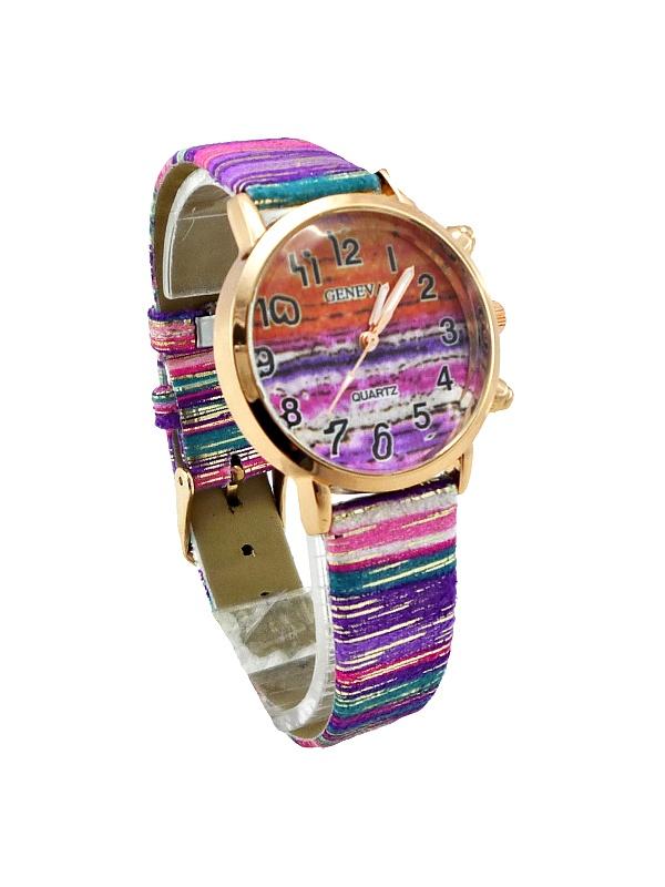 Dámské hodinky Geneva Quartz mix růžové 289D