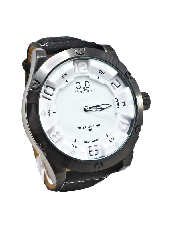 Pánské hodinky G.D Extravagants černo-bílé 169ZP