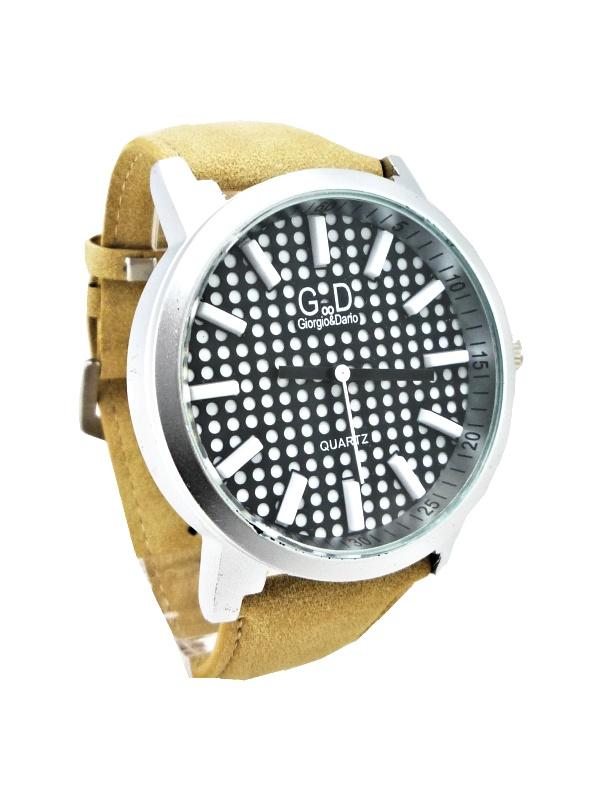 Pánské hodinky G.D Quartz Elegant béžové 155ZP
