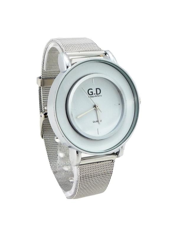 Dámské stříbrné hodinky G.D Well silver 430D