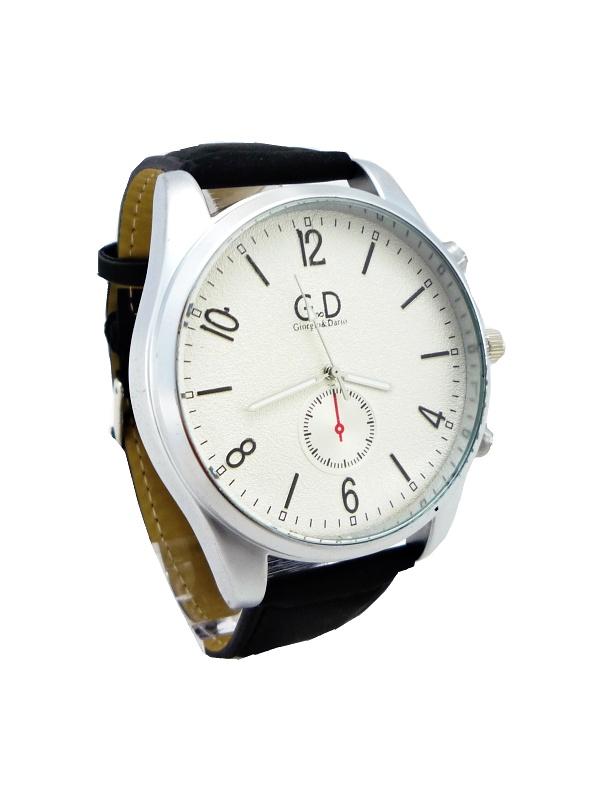 Pánské kožené hodinky G.D Intrest černé 141ZP