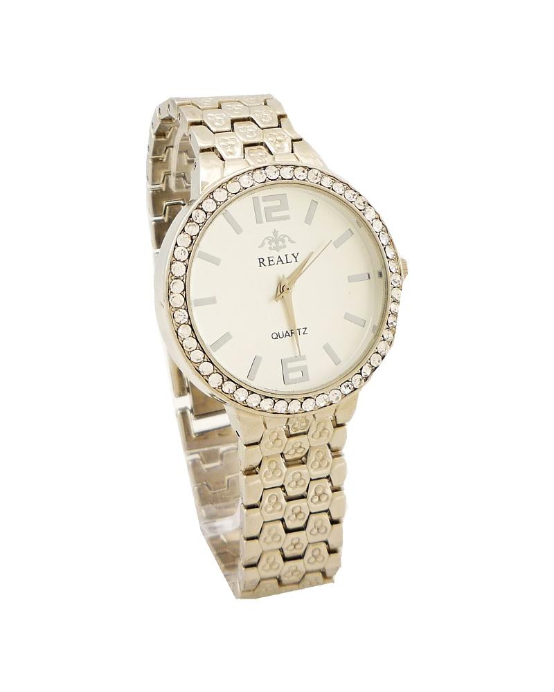 Dámské hodinky Realy Quartz stříbrné 490ZD