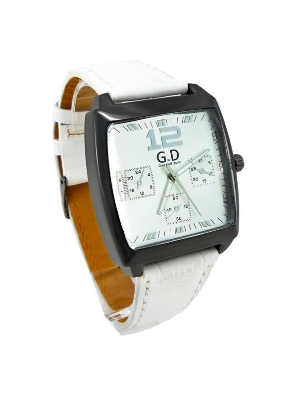 Pánské hodinky G.D Square bílé 166ZP