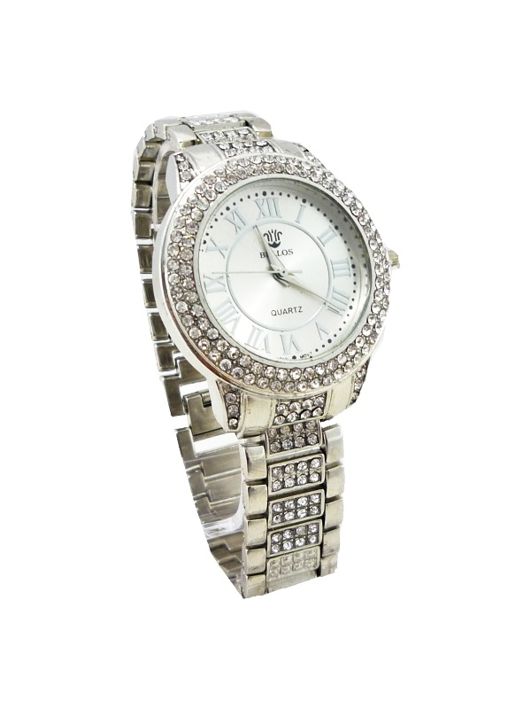 Dámské stříbrné hodinky Bellos Quartz stříbrné 499ZD
