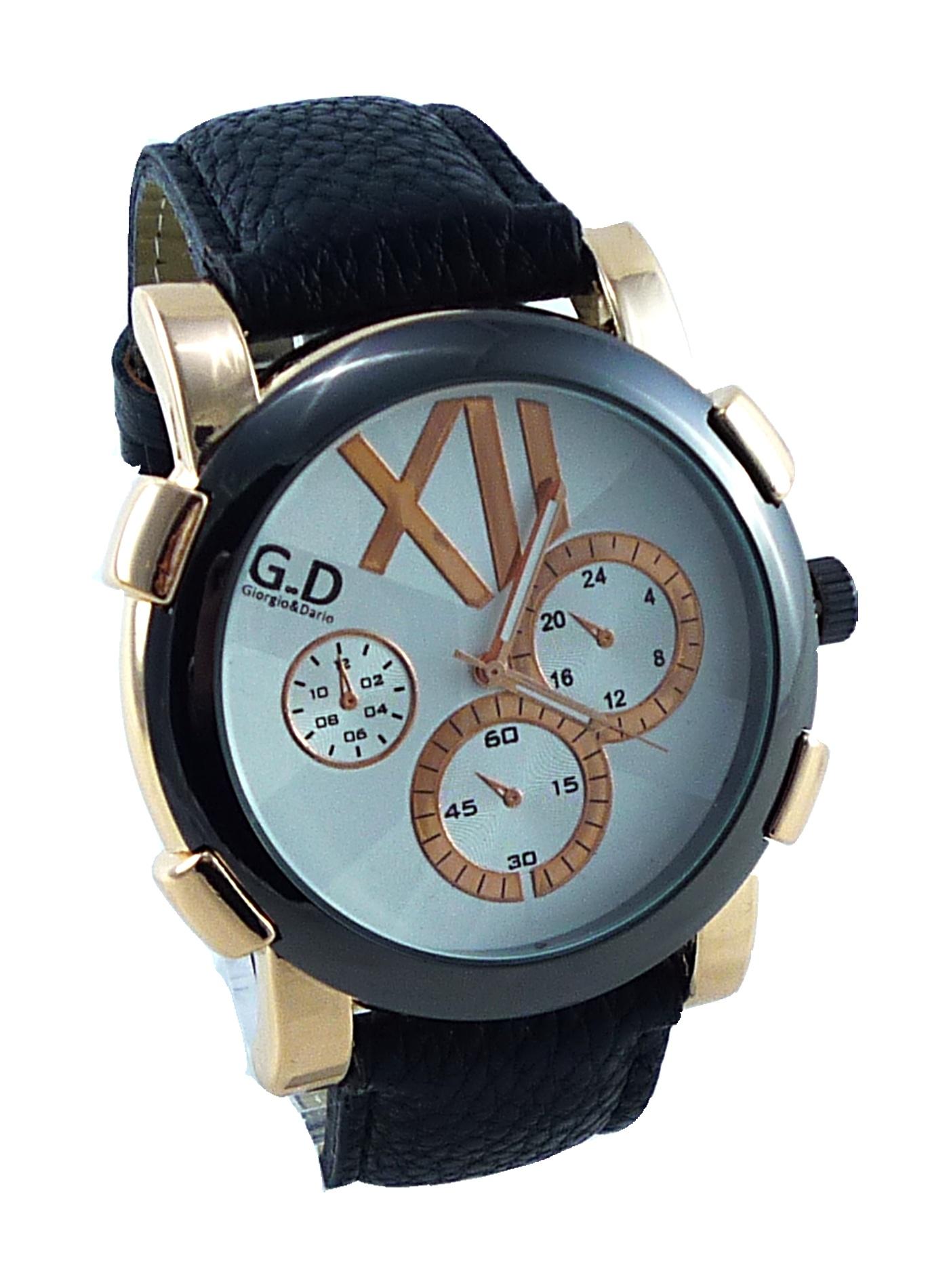 Pánské hodinky GD Rose GOLD black 008P