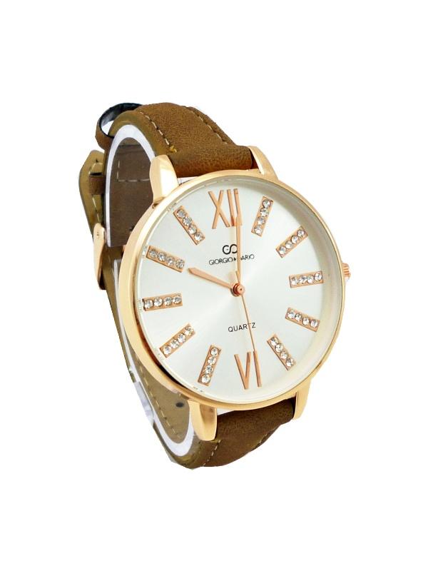 Dámské hodinky Giorgio Dario Nice hnědé 396D (Dámské hodinky v bronzovo-hnědém provedení vhodné pro běžné nošení.)