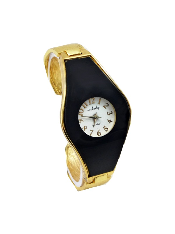 Dámské zlato-černé hodinky Melody Quartz 357D