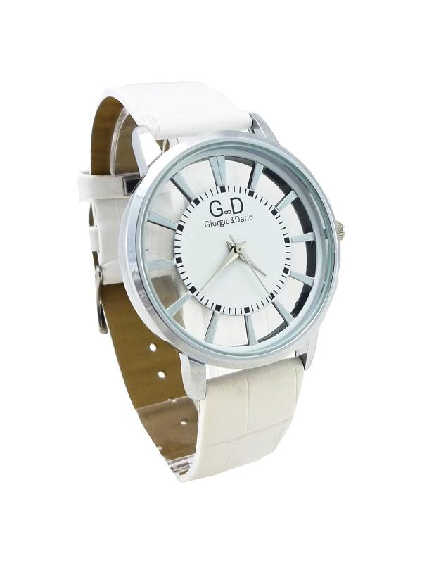 Dámské hodinky G.D bílé 456ZD