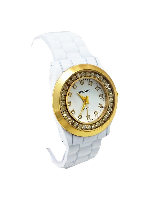 Dámské bílo-zlaté hodinky Melody nice 344D