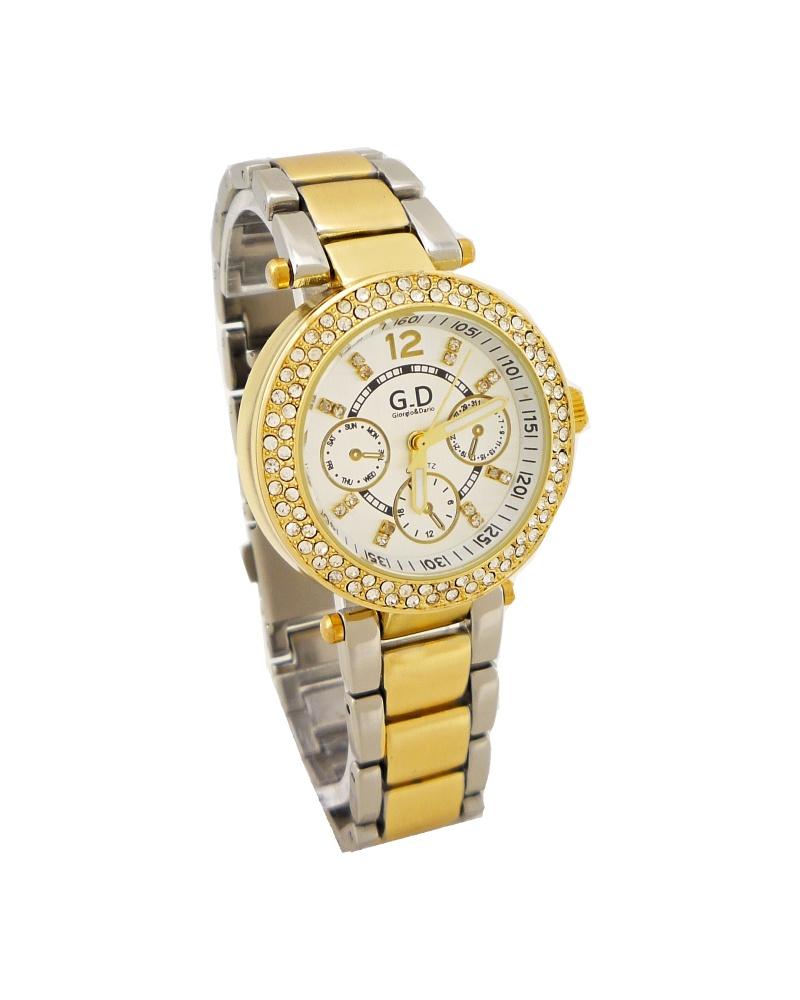 Dámské hodinky G.D zlato-stříbrné 132D