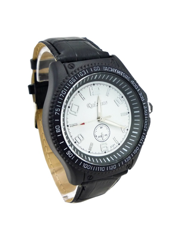 Pánské kožené hodinky Ruizhuo černé 144ZP  d531eeac0f