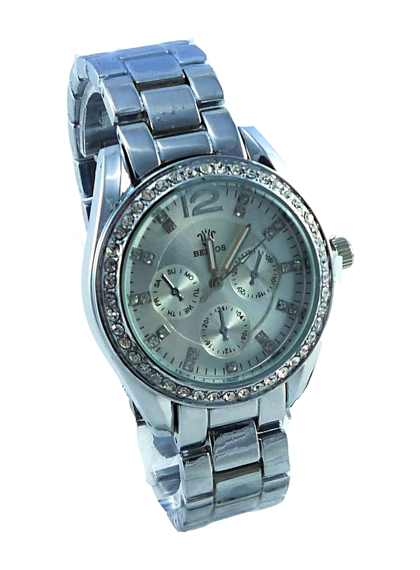 Dámské stříbrné hodinky Bellos silver 039D