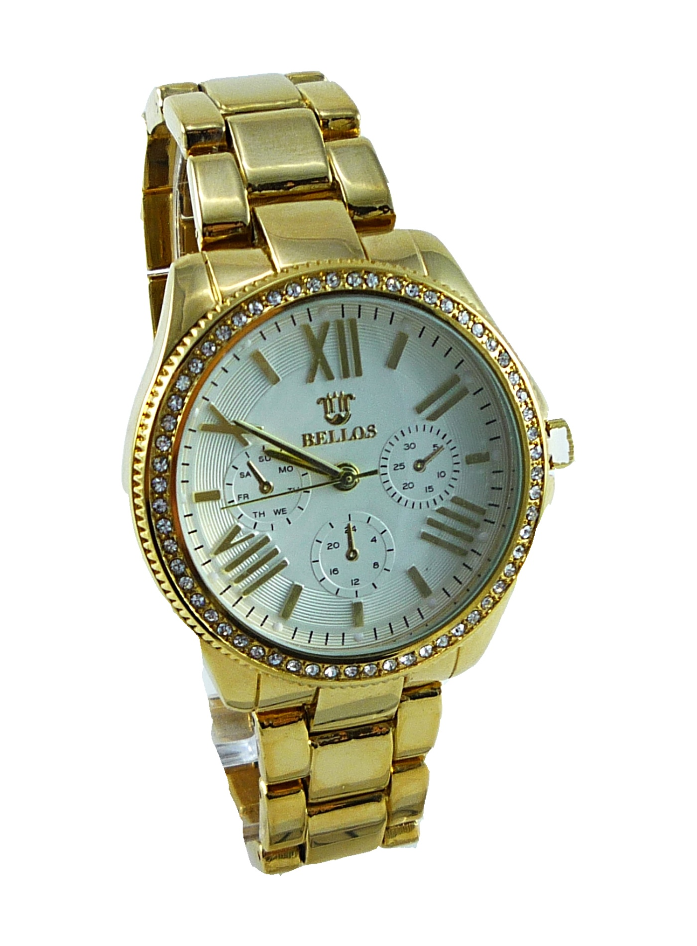 Dámské hodinky zlaté Bellos exlusiv 053D