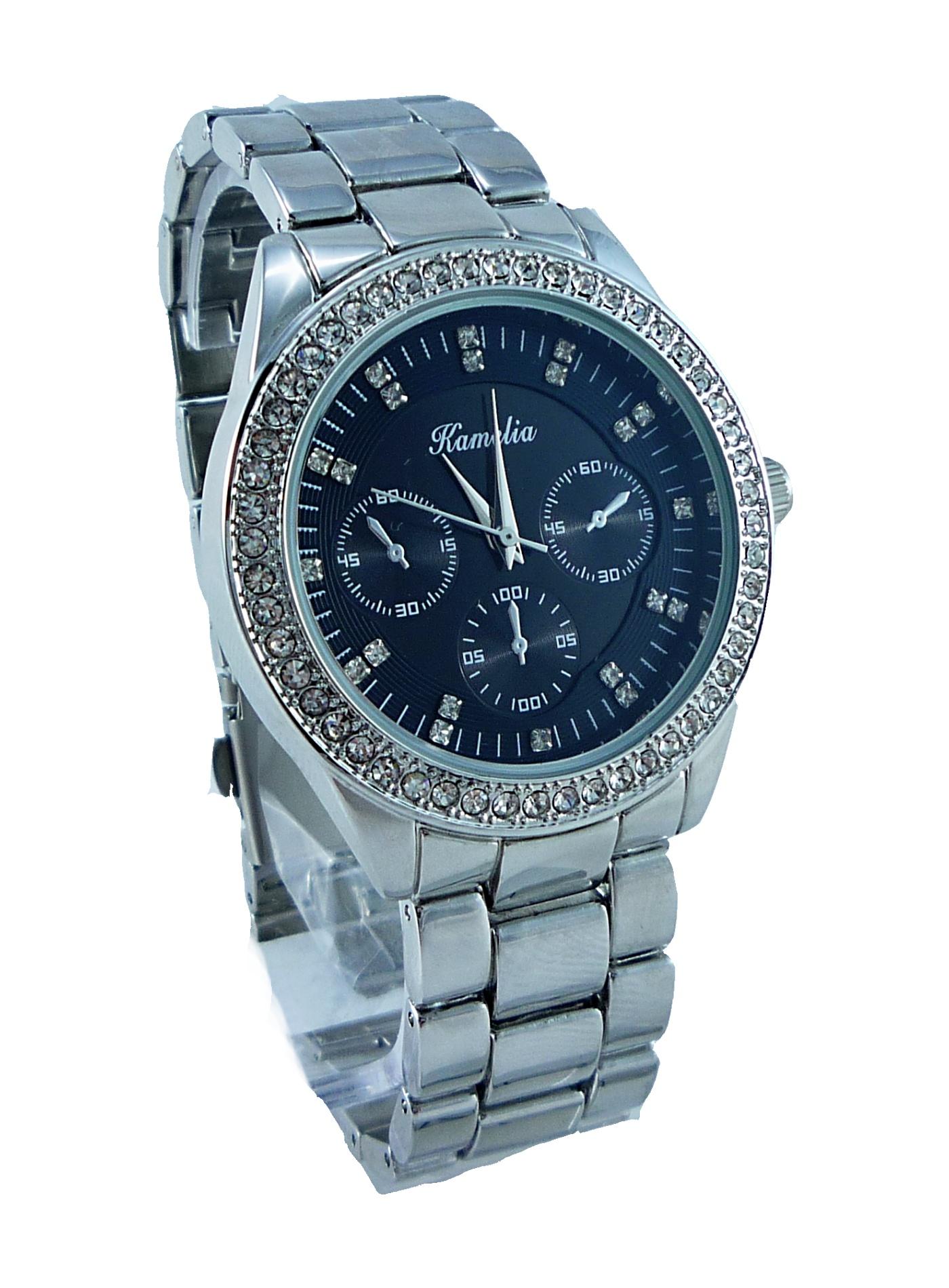 Dámské hodinky stříbrné CAMELIA silver 044D