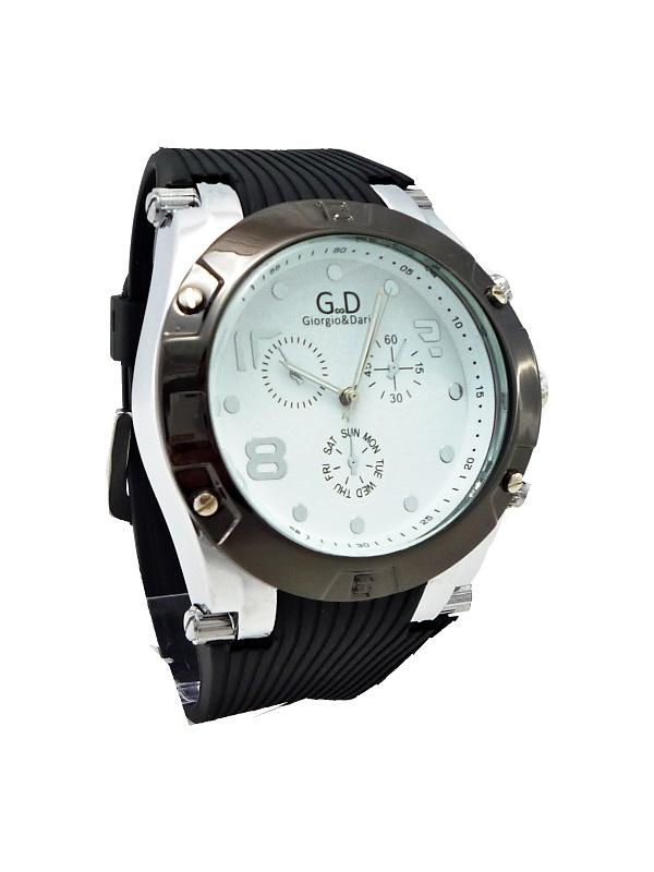 Pánské hodinky G.D Extravagans černo-bílé 177ZP
