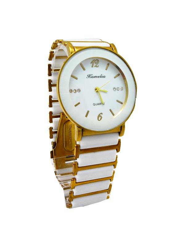 Dámské hodinky KAMELIA bílo-zlaté 151D