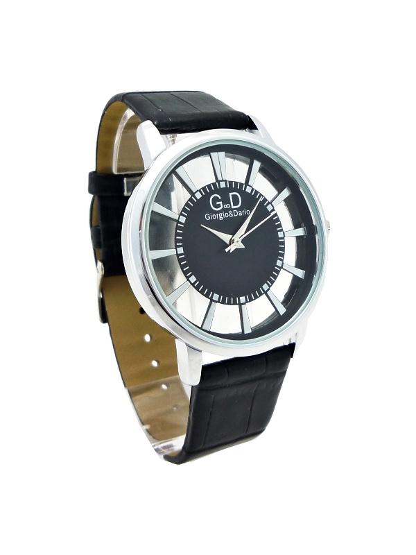 Dámské hodinky G.D stříbrno-černé 457ZD  b3eb248ab4