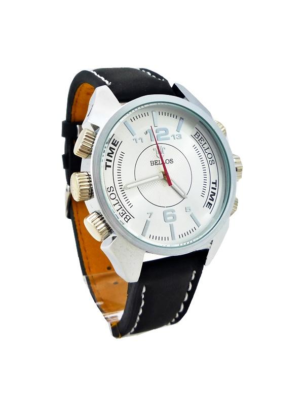 Pánské hodinky Bellos Purely stříbrno-černé 117P