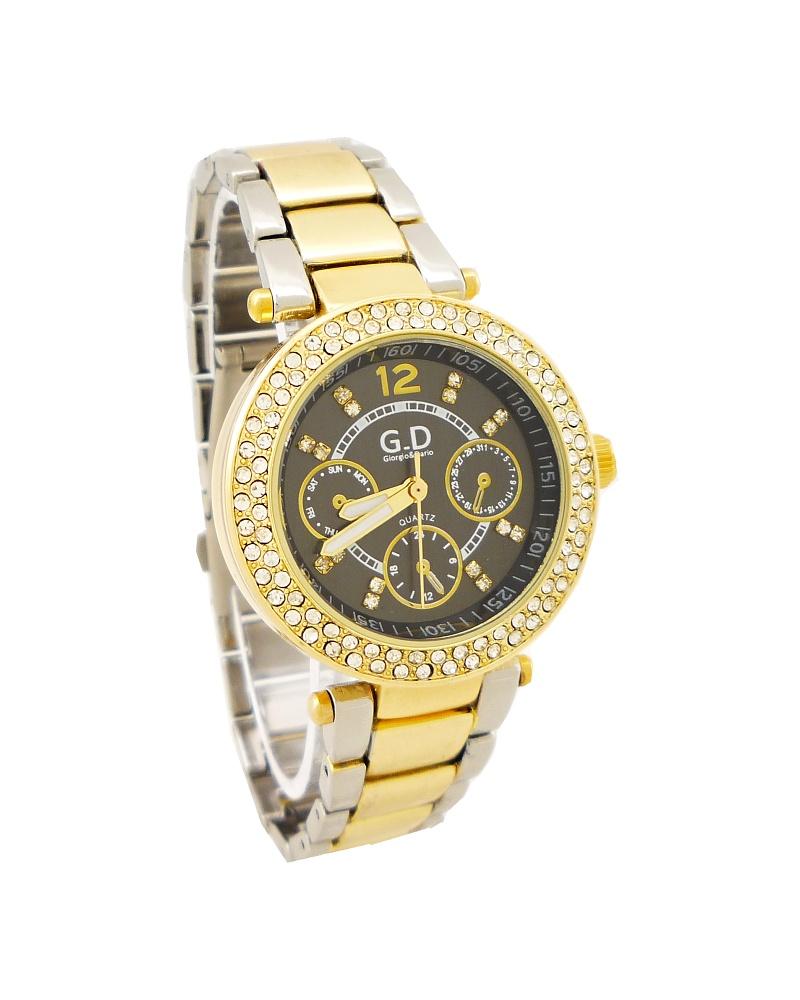 Dámské hodinky GD zlato-stříbrné 052D