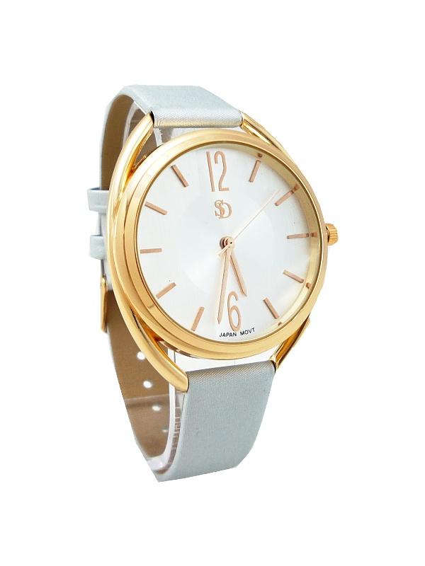 Dámské hodinky SD bronzovo-stříbrné 409D