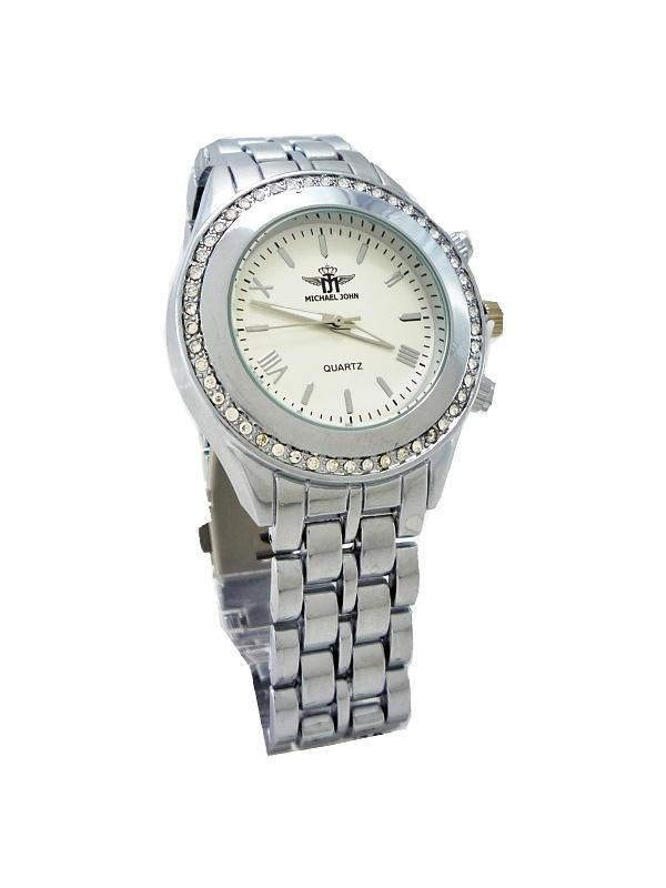 Dámské hodinky Michael John Bland stříbrné 502ZD