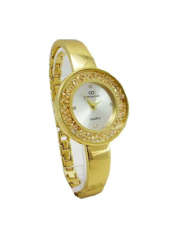 Dámské hodinky s kamínky Giorgio Dario zlaté 445D