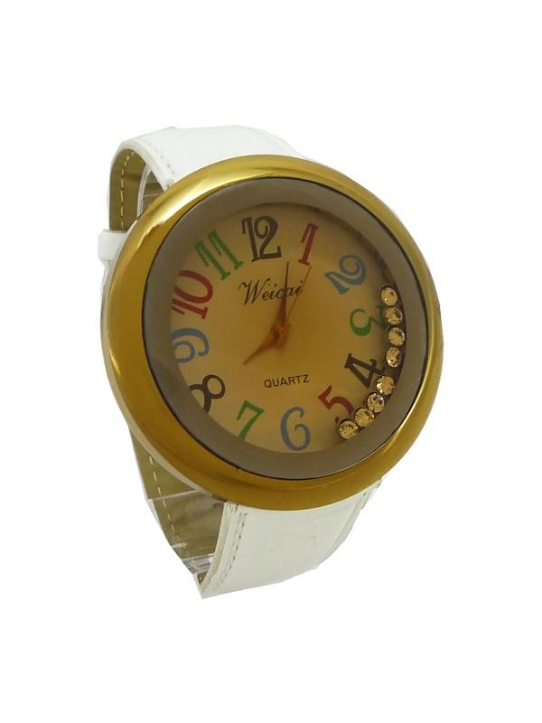 Dámské hodinky Weicai zlato-bílé 265D