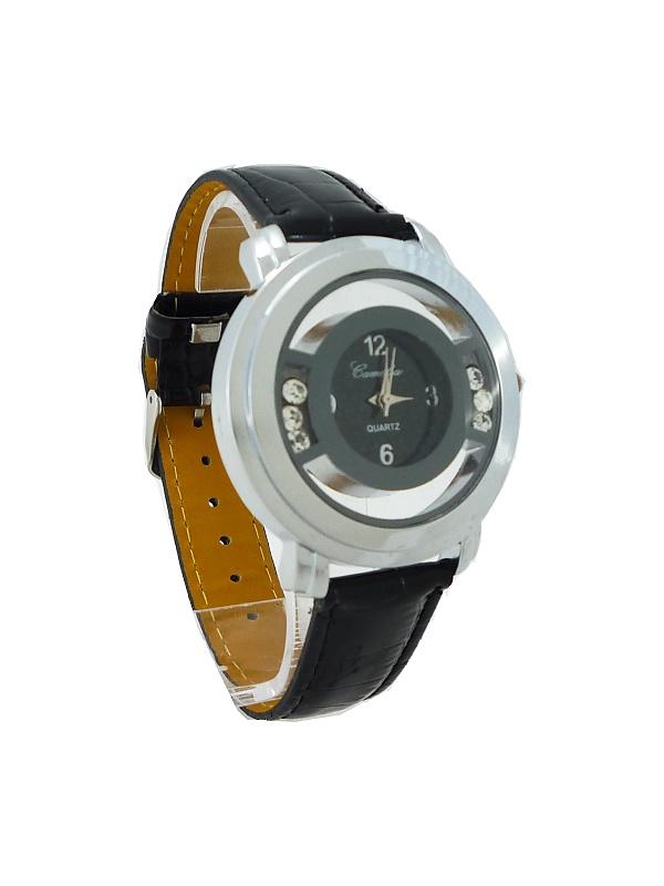 Dámské hodinky Camelia stříbrno-černé 078D