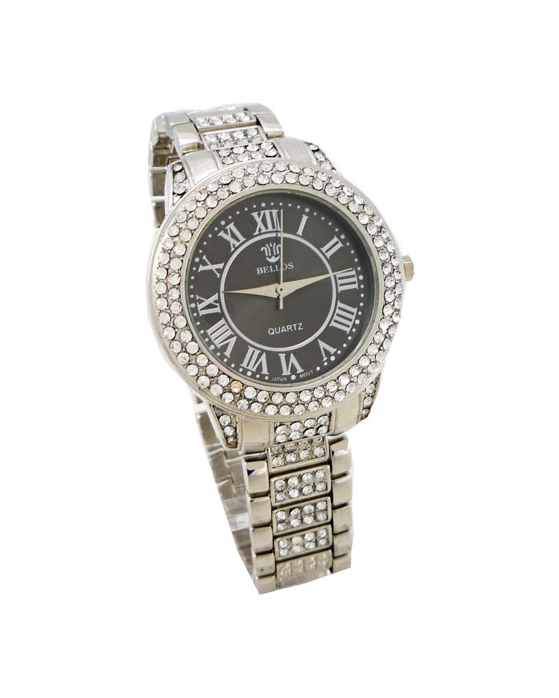 Dámské hodinky Bellos Quartz stříbrné 500ZD