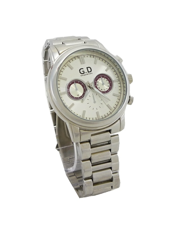 8b8be5d9bfe Pánské elegantní hodinky G.D stříbrné 139ZP