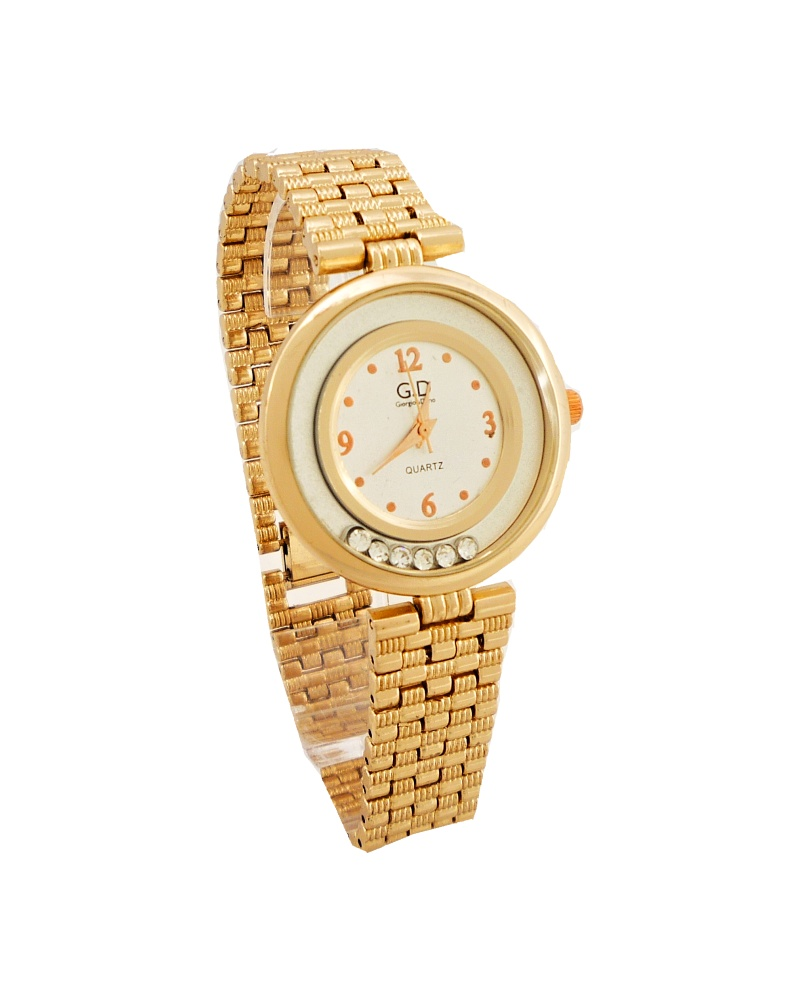 Dámské hodinky GD zlaté s plovoucími kamínky 054D 279a2f6733