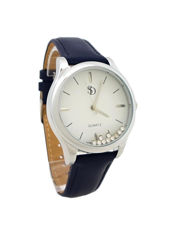 Dámské hodinky Bellos Delikat stříbrno-modré 642D