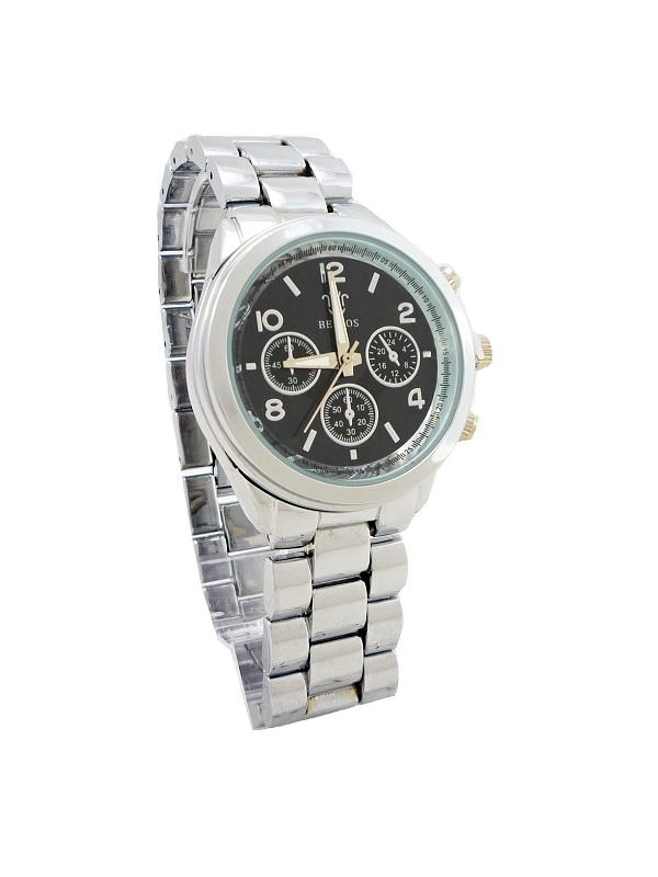 Dámské hodinky Bellos černo-stříbrné 676D  19fdaa8950