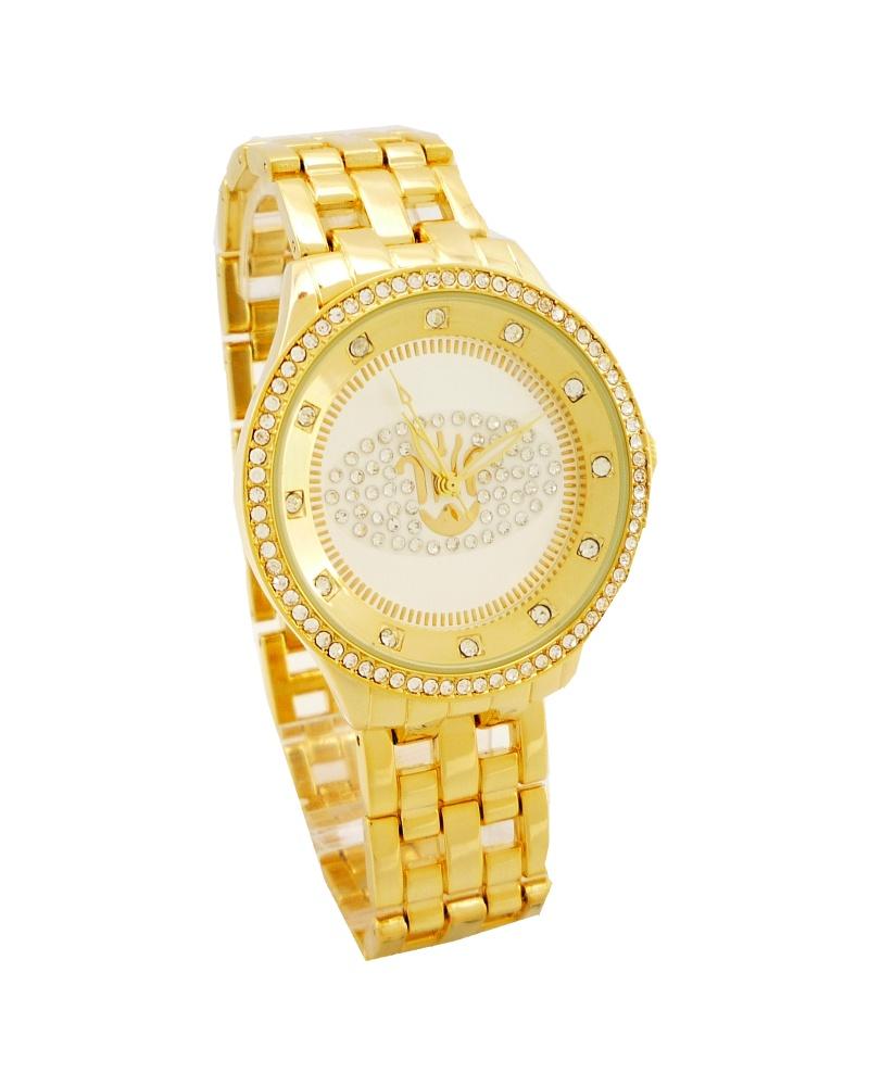 Dámské hodinky s kamínky Bellos Exlusiv zlaté 159D