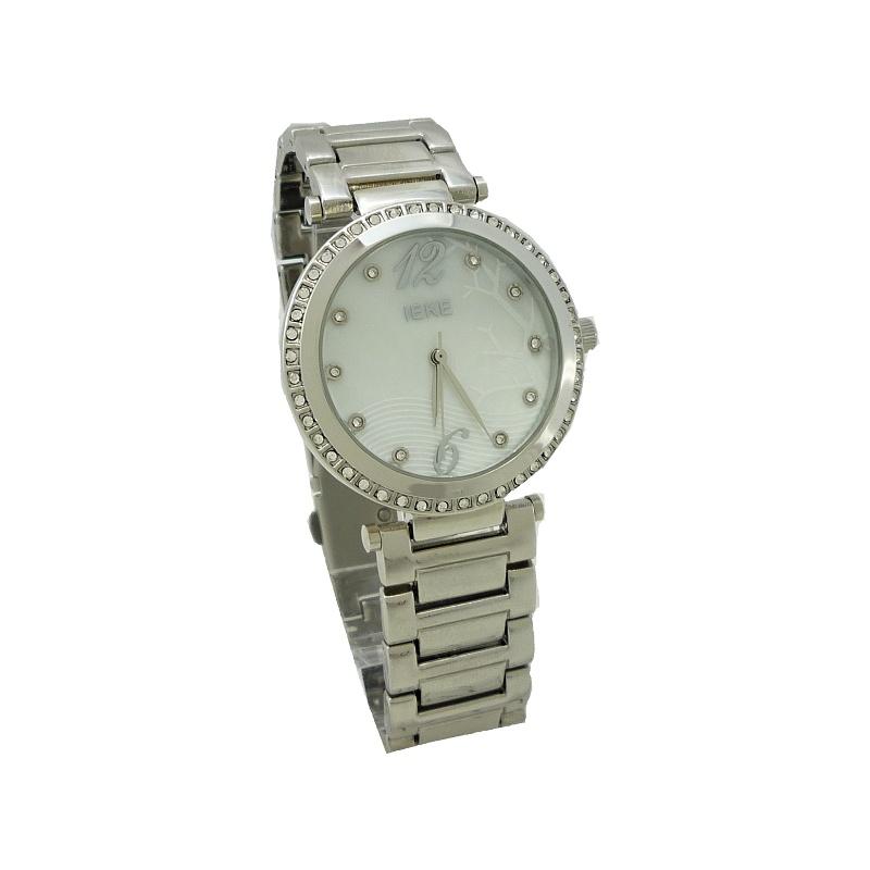 Dámské stříbrné hodinky IEKE s perletí 005D bbb23950c8