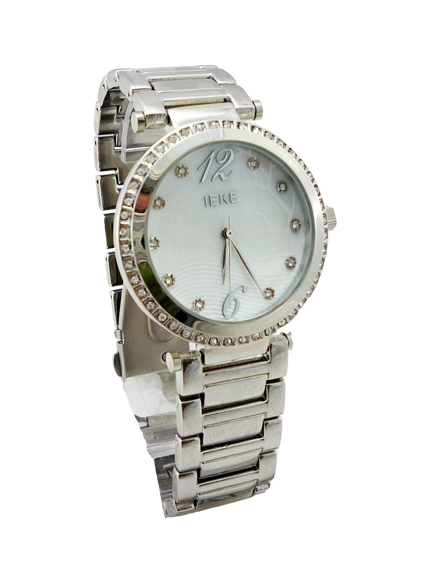 Dámské stříbrné hodinky IEKE s perletí 005D