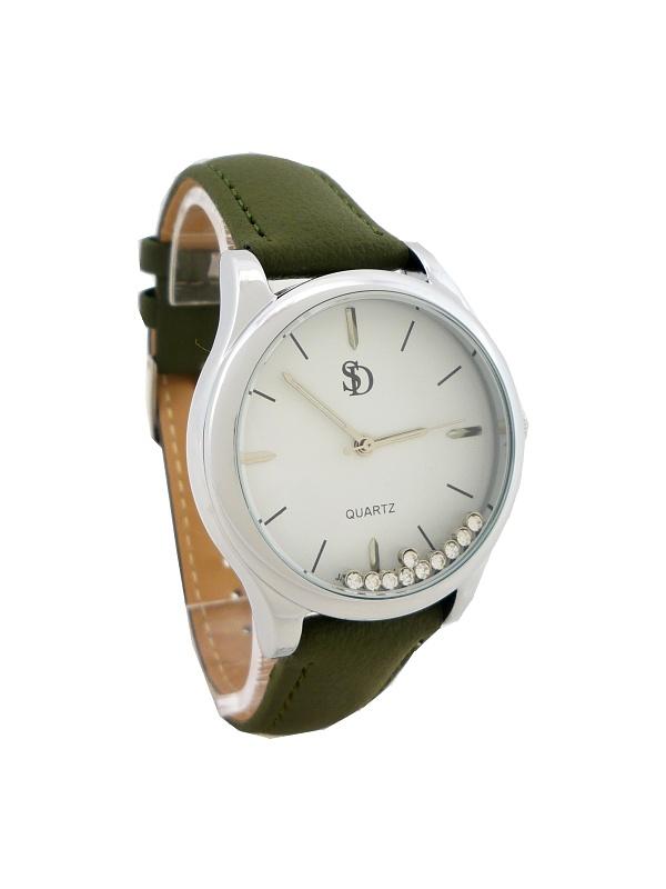 Dámské hodinky Bellos Delikate stříbrno-zelené 643D