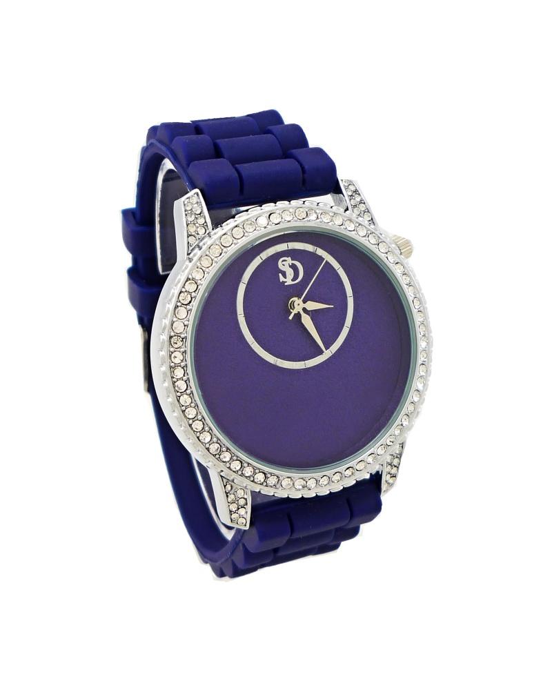 Dámské hodinky s kamínky SD Extra modré 162D