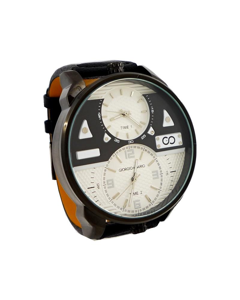 Pánské kožené hodinky G.D Extravagants černé 322P
