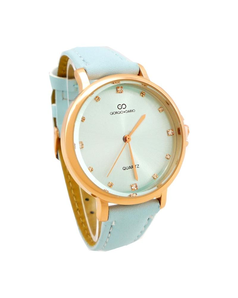 Dámské hodinky Giorgio Dario Meryly bronzovo-světle modré 761D