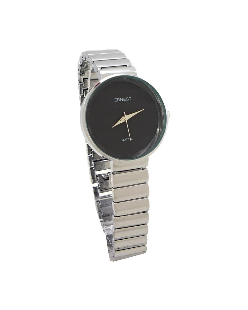 82edfe78f3d Dámské hodinky Ernest Fanny stříbrno-černé 647D