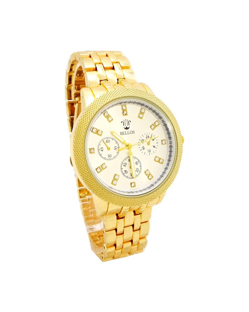 Dámské zlaté hodinky Bellos Remar 659D