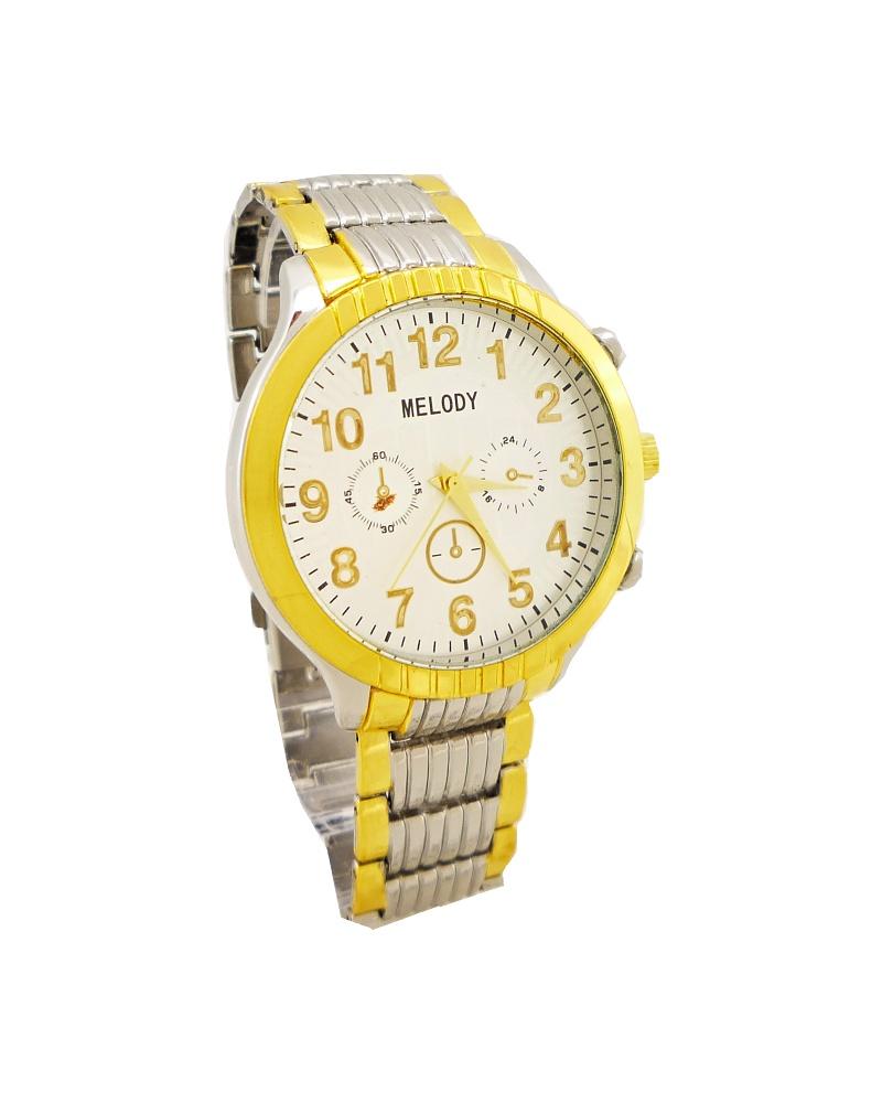 Pánské hodinky Melody John stříbrno-zlaté 305P