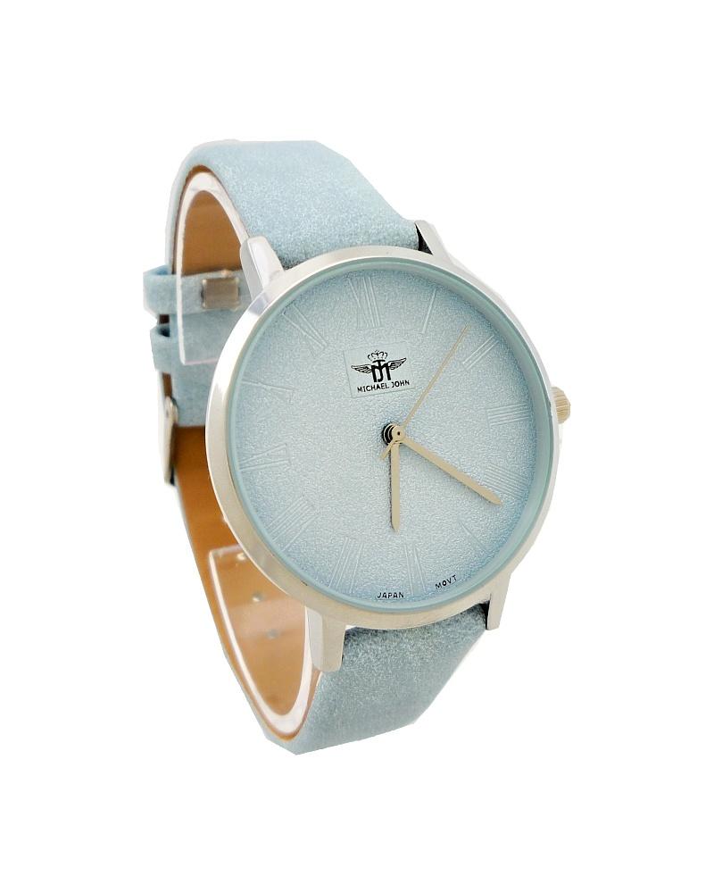 Dámské hodinky Michael John Shonne stříbrno- modré 714ZD