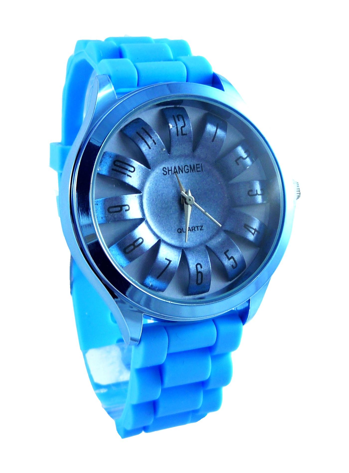 Dámské světle modré hodinky SHANGMEI blue 167D